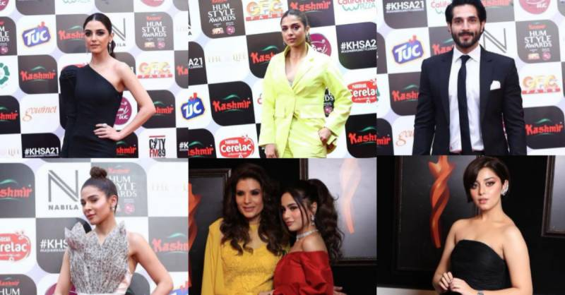 Classy celebrities ruling the Red Carpet of 5th Hum Style Awards