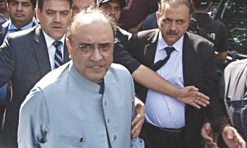 Zardari reaches Islamabad from Karachi hospital to appear in court