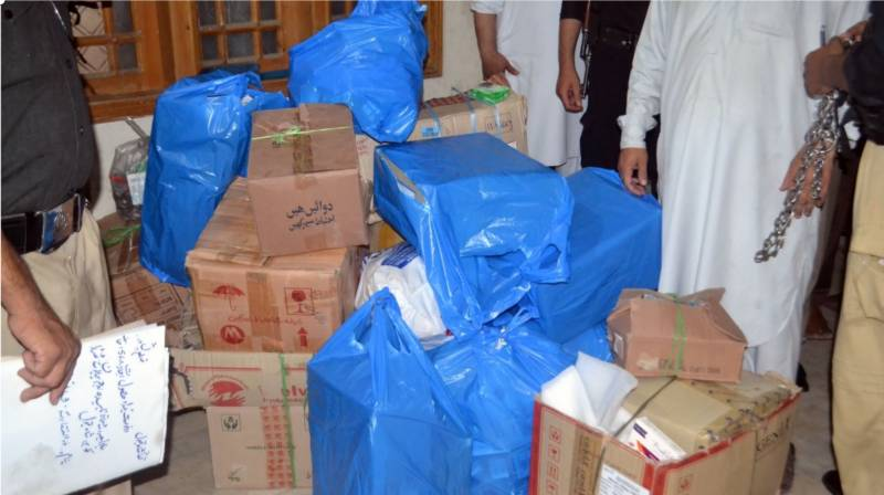 Govt medicines recovered from private godown in Peshawar