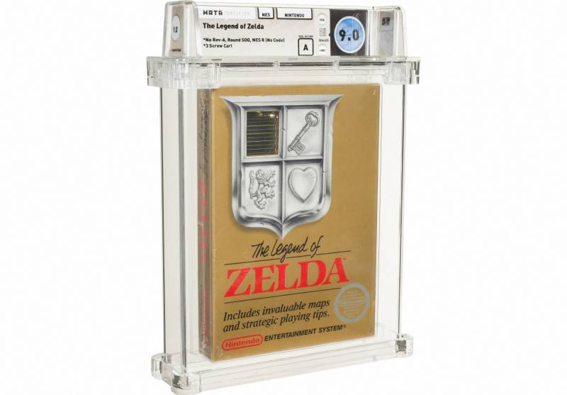 Zelda game cartridge sells for 'world record' $870,000 at auction
