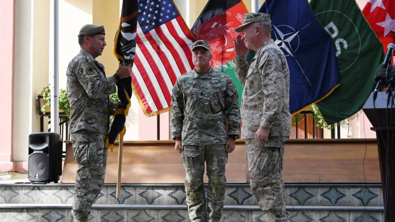 Top US general in Afghanistan relinquishes command