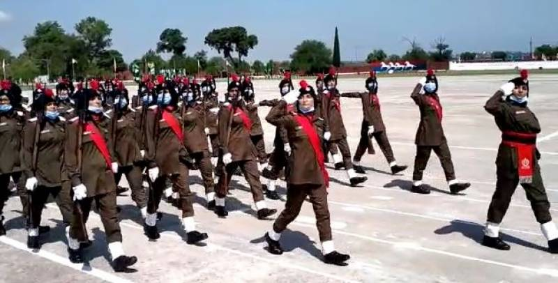 Passing out parade for over 300 lady constables at Sihala Training College