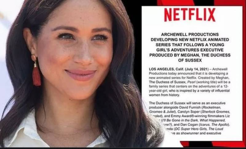 Meghan Markle to make animated adventure series for Netflix