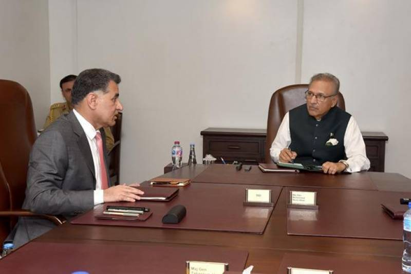 ISI chief briefs President Alvi on Afghanistan, national security