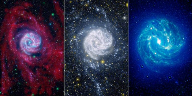 Baby stars form pinwheel fireworks in nearby galaxies