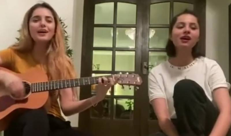 Singer Momina and actress Nimra Khan put their vocals to test