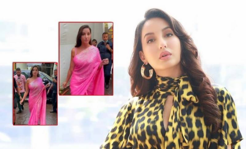 Nora Fatehi brutally trolled for her 'Model Walk' in saree