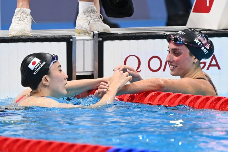 Upsets in Olympic pool as Japan, Tunisia strike gold