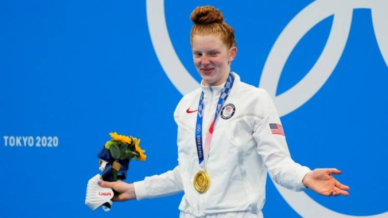 No Olympic pool? No problem for US teen sensation