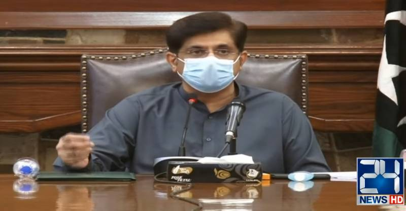 CM Murad says lockdown imposed in Sindh 'partial' not complete