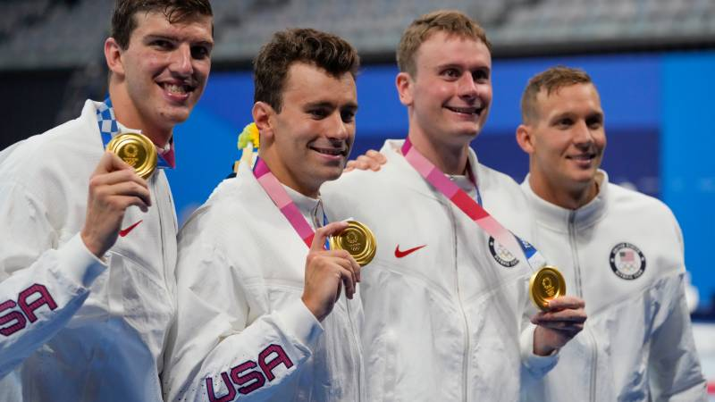 Dressel and McKeon fire up in 50 free gold medal quest