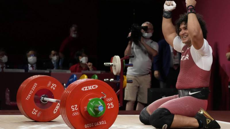 Weightlifter El-Bakh wins Qatar's first Olympic gold
