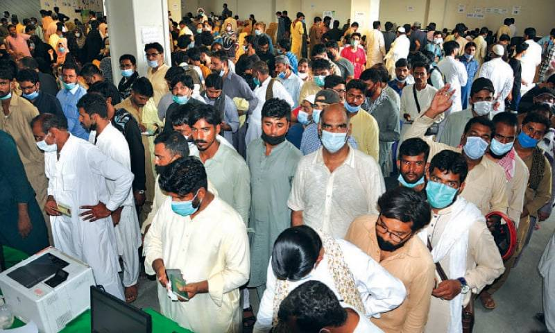 Strict Covid rules make Karachiites rush to vaccine centres in droves