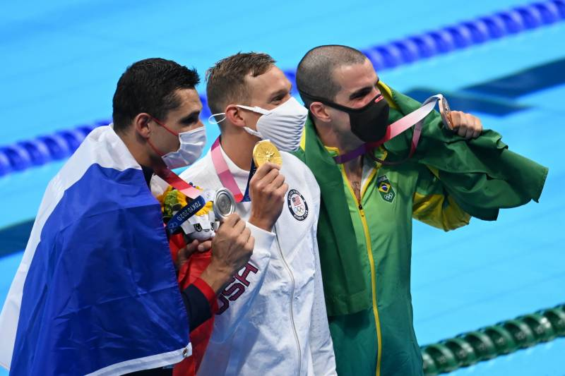 US star Dressel wins 50m freestyle for 4th Tokyo gold