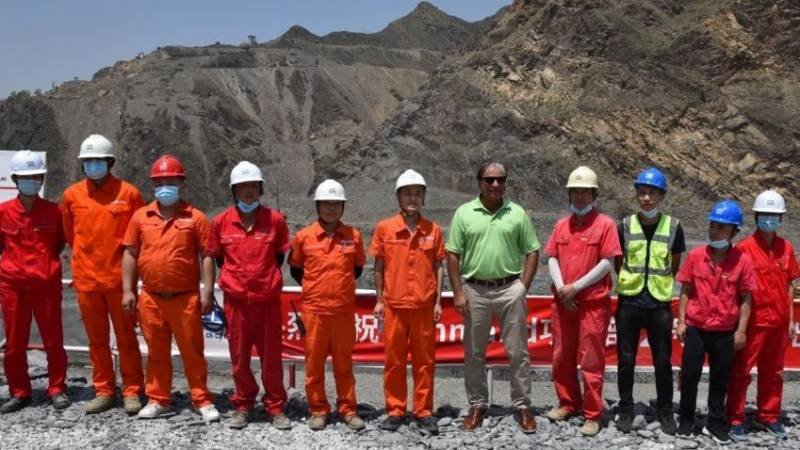Mohmand Dam project: Two portions of diversion tunnel connected