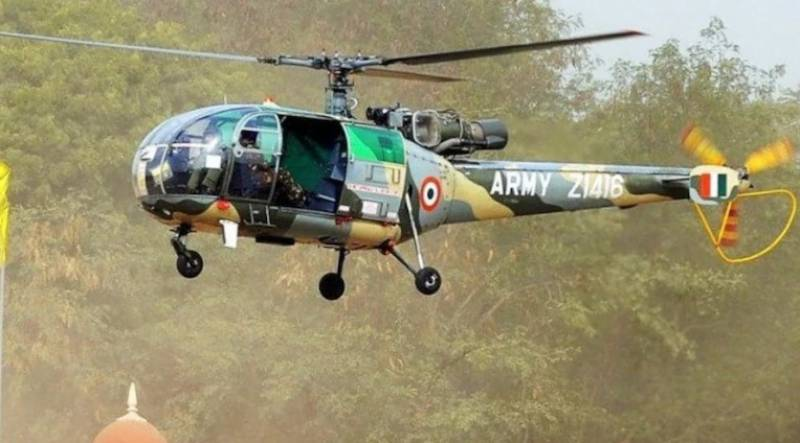 Indian army helicopter crashes in Occupied Kashmir