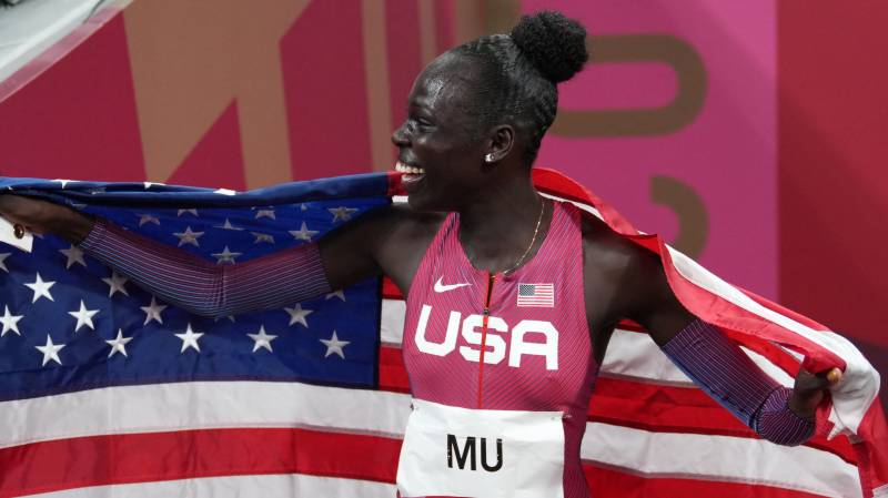 Mighty Mu storms to Olympic 800m gold