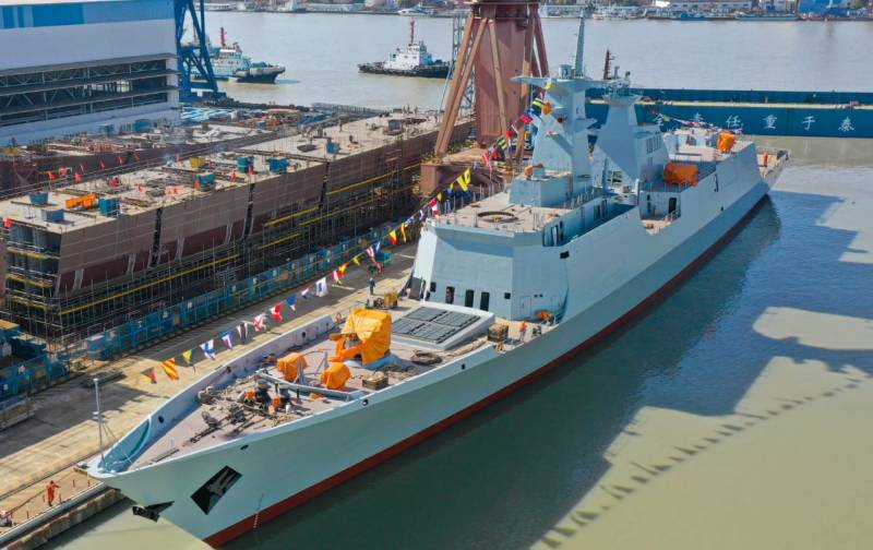 Launching ceremony of T-054 A/P Frigate for Pakistan Navy held in China
