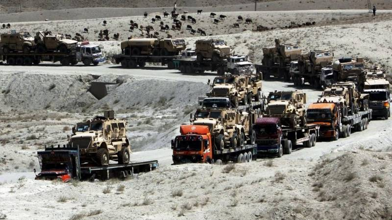 NATO, on its way out, gives supplies to Afghanistan