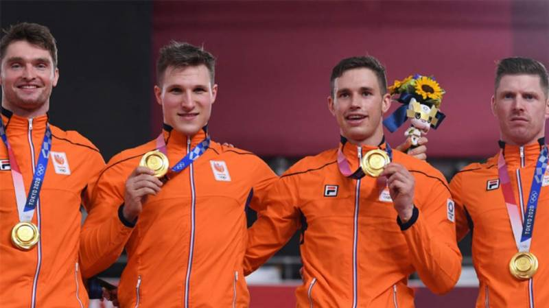 Netherlands dominate Britain to win Olympic men's team sprint gold