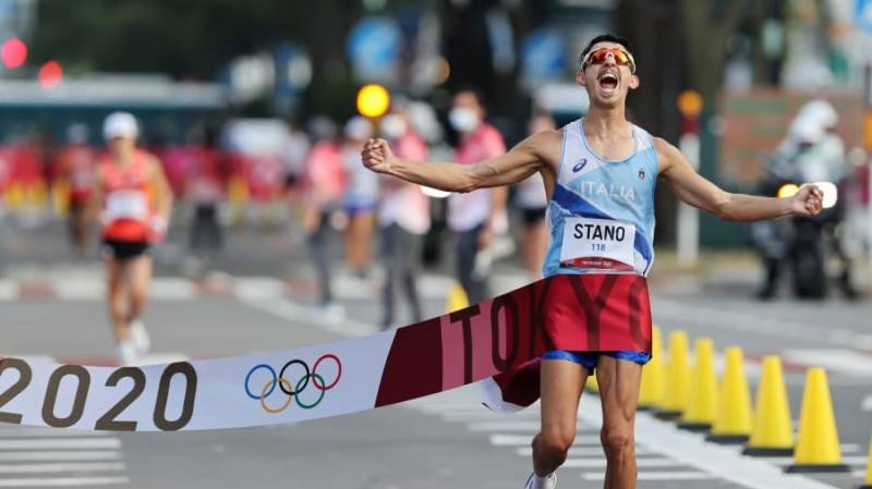 Italy's Stano wins 20km walk Olympic gold