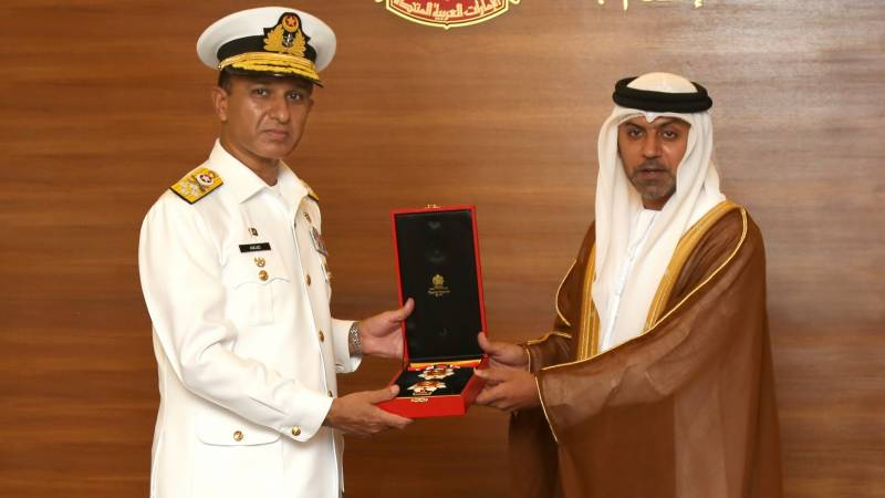 Naval Chief conferred with UAE's highest military award