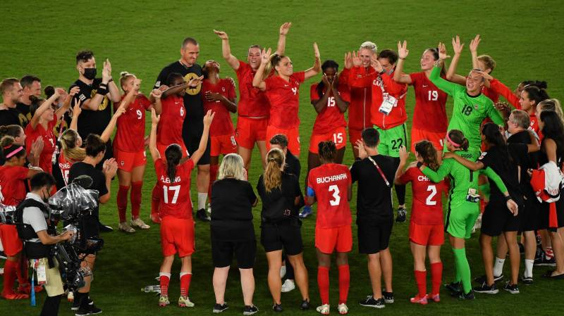 Canada edge Sweden on penalties to win Olympic women's football gold