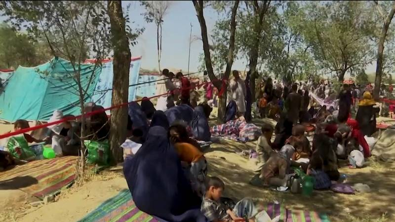 Thousands flee as Taliban eye full control of northern Afghanistan