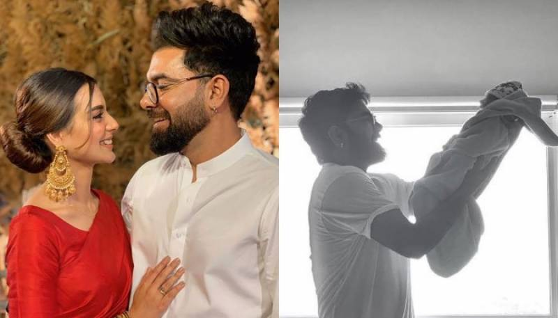 Fan asks Yasir Hussain whom he loves more wife or son, here's what he said!