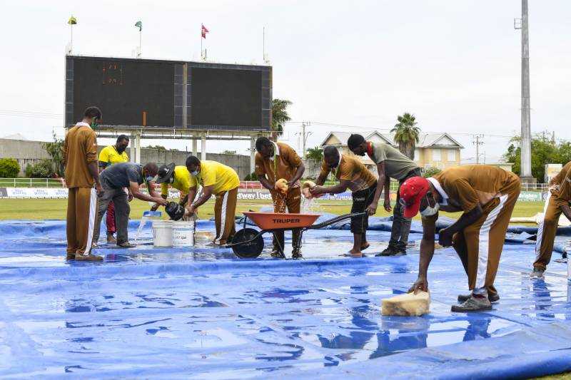 Rain washes out second day of Pakistan-Windies Test