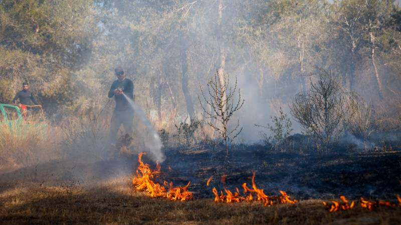 Gaza incendiary balloons spark fires in Israel