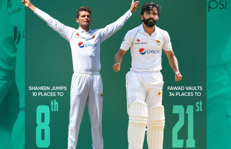 Shaheen and Fawad vault to career-high rankings
