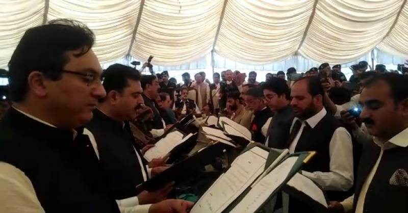 16-member AJK cabinet takes oath with 'accountability' top priority