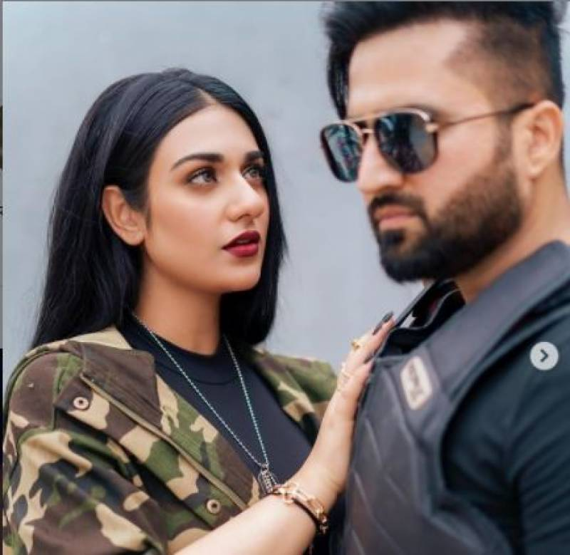 Sarah Khan proving 'too heavy' in working relationship with husband Falak Shabir