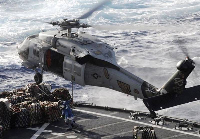 Five missing as US Navy helicopter crashes
