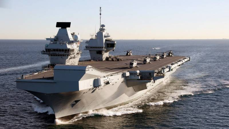 British aircraft carrier in Japan on Indo-Pacific mission