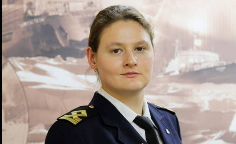 Russian woman leads the way on Arctic ship