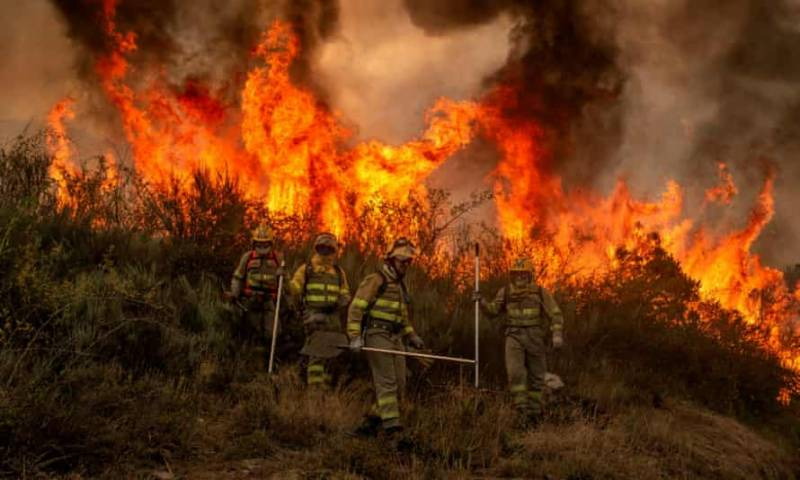 Hundreds flee southern Spain wildfire