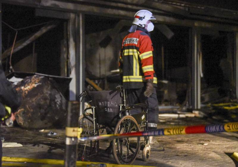 10 dead in fire at Covid hospital in Macedonia