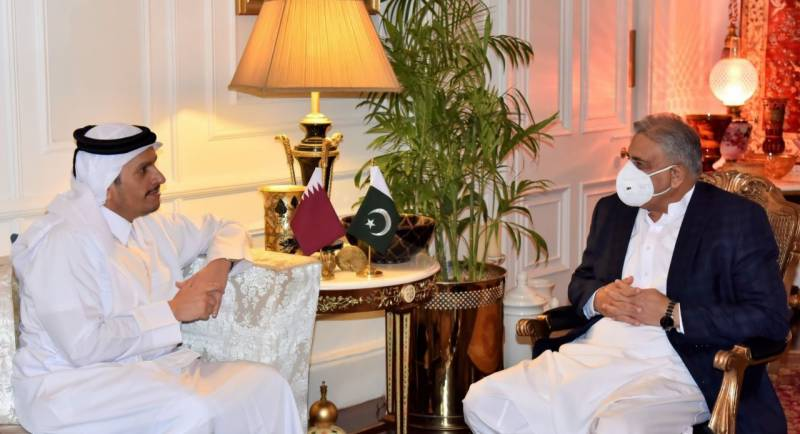 COAS reiterates resolve of extending humanitarian assistance for Afghans in meeting with Qatari deputy PM