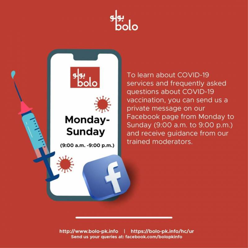 Bolo: A digital platform that provides reliable information about Covid-19, other services in Pakistan