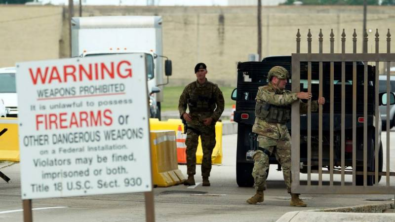 Report of active shooter locks down US airbase