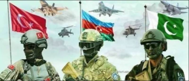 Trilateral military exercises started in Azerbaijan: ISPR