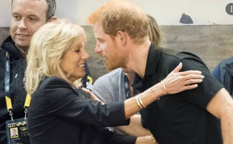 Prince Harry and Jill Biden pay tribute to America's war wounded
