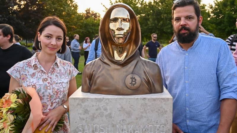 Bitcoin inventor statue unveiled in Budapest
