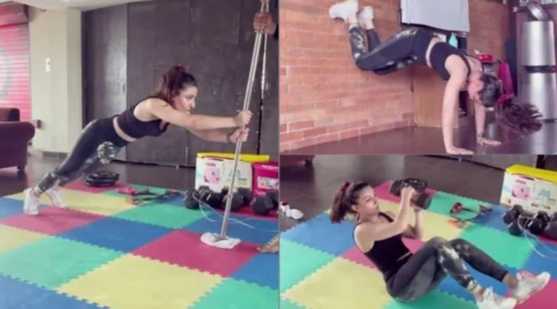 Soha Ali shares 'week 5 of core workout' video