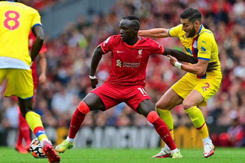 Mane scores 100th Liverpool goal in Palace stroll