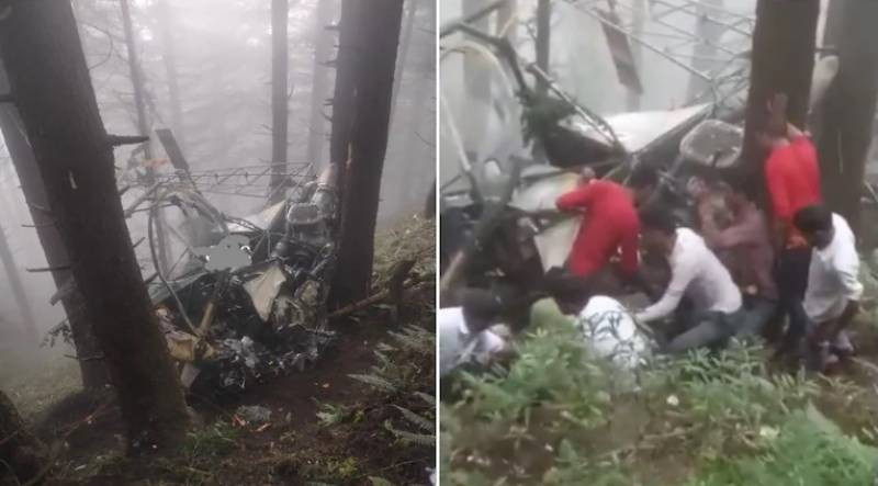 Pilots killed as another Indian army copter crashes in Occupied Kashmir