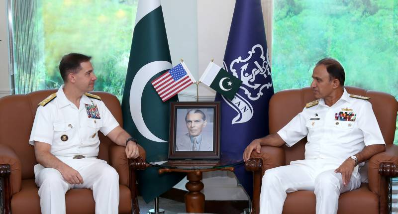 Commander of the US Naval Forces Central Command Vice Admiral C.B Cooper II calls on Chief of the Naval Staff, Admiral Muhammad Amjad Khan Niazi.