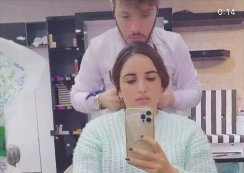 Look into Hareem Shah's killer chemistry with her hairstylist